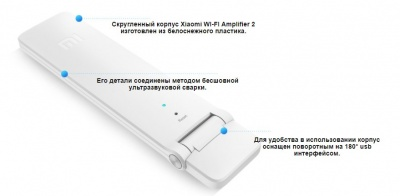Усилитель Wi-Fi сигнала Xiaomi Mi Wi-Fi Amplifier / Repeater 2